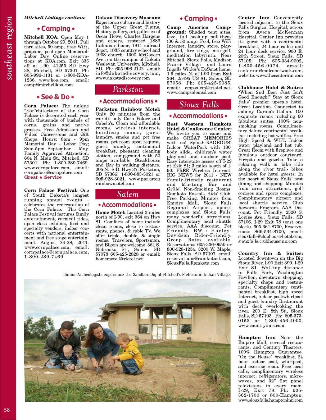 South Dakota Vacation Guide 2011
