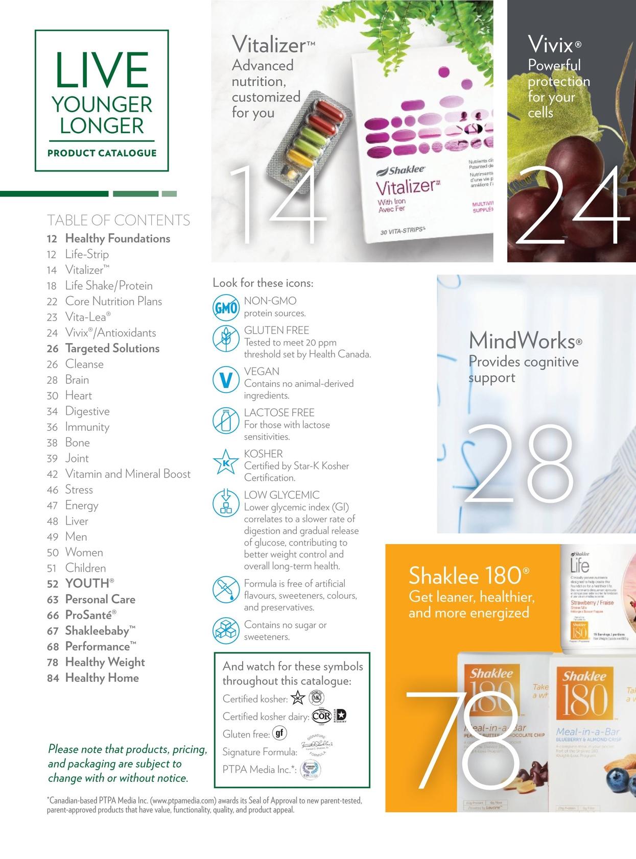 Shaklee Product Catalogue 2018 Canadaenglish