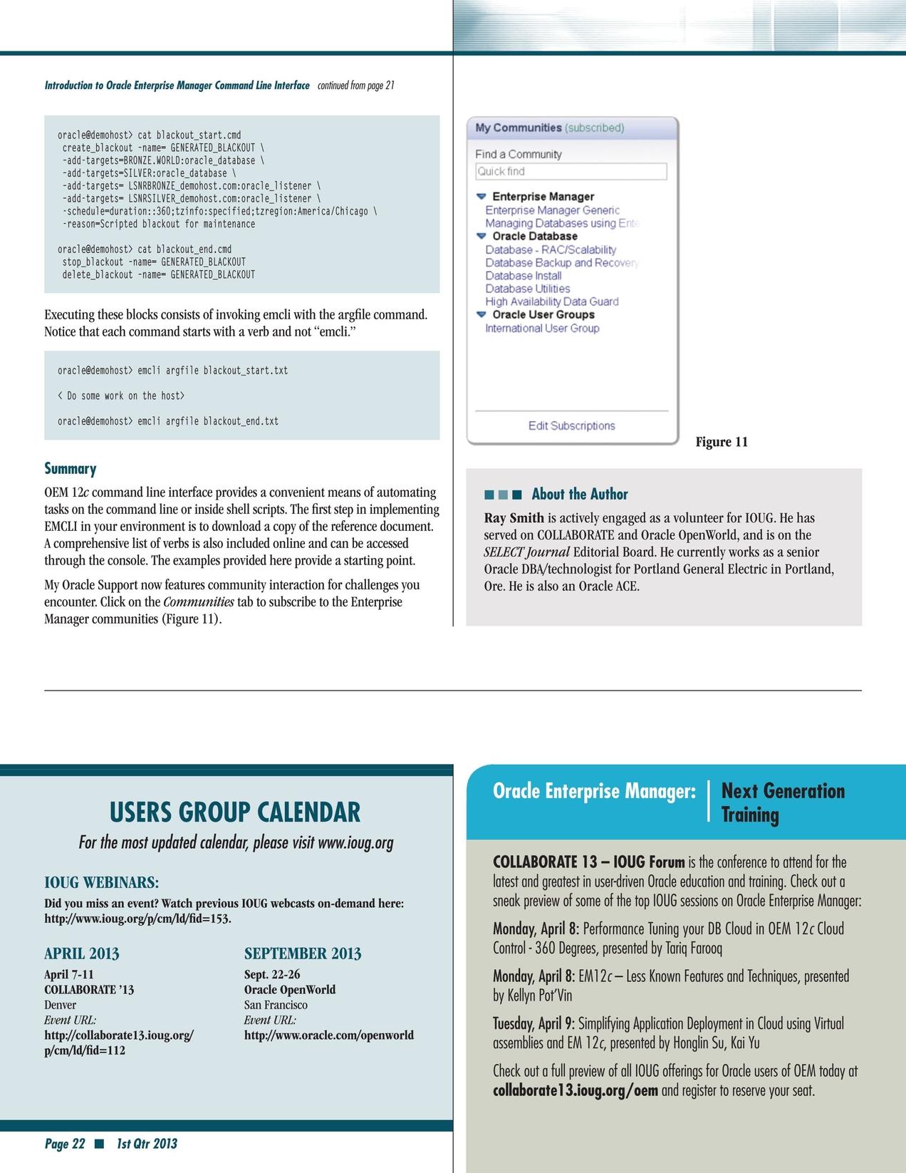 Select Journal - First Quarter 2013