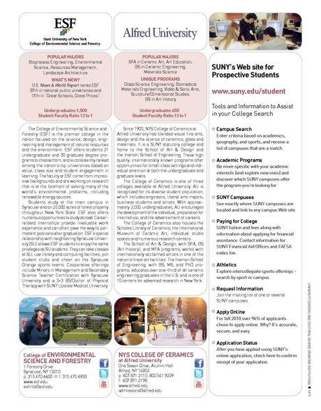 SUNY Viewbook 2011