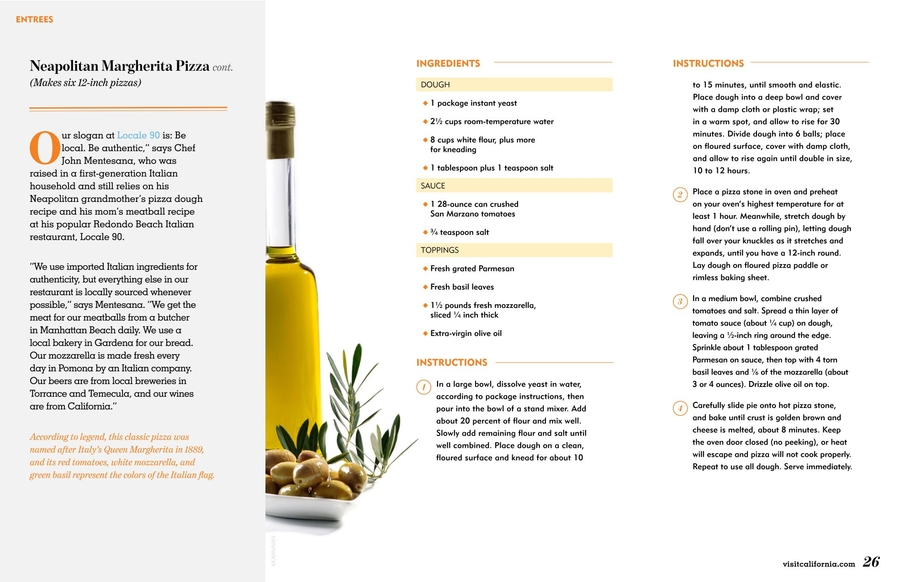 California Restaurant Month Recipe Book