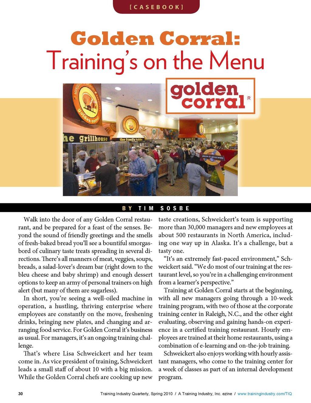 Training Industry Quarterly - Spring 2010