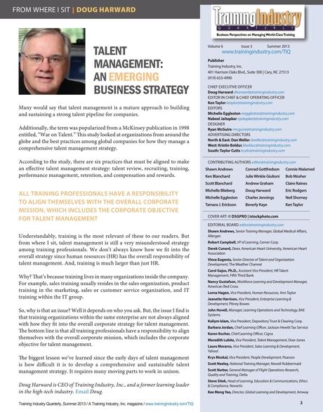 Training Industry Quarterly - Summer 2013
