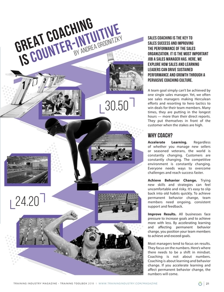 Training Industry Magazine - July/August 2018 - Great Coaching Is Counter-Intuitive