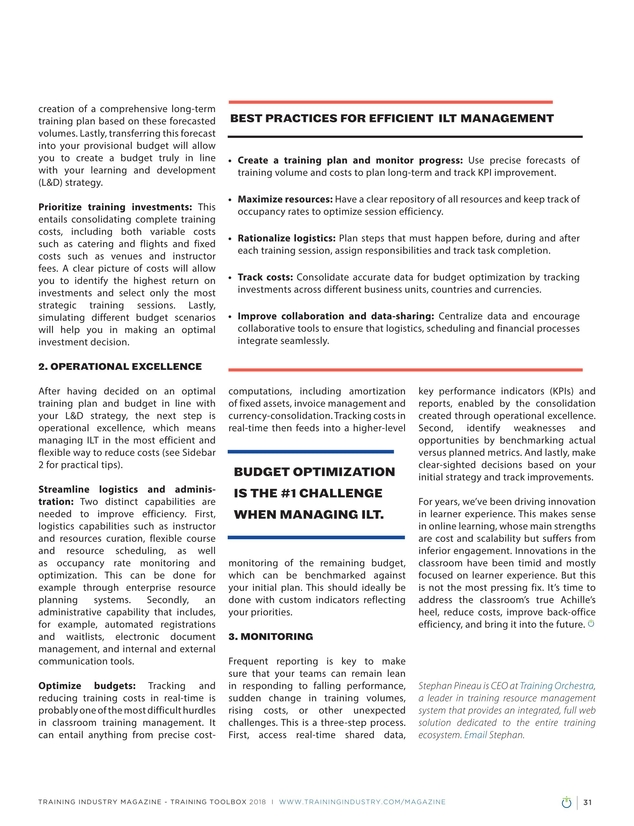 Training Industry Magazine - July/August 2018