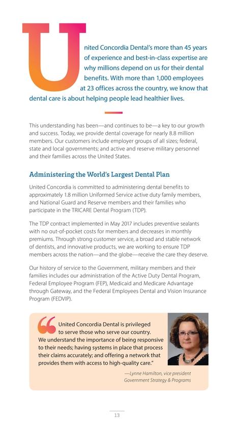 united concordia dental 2017 dental solutions report