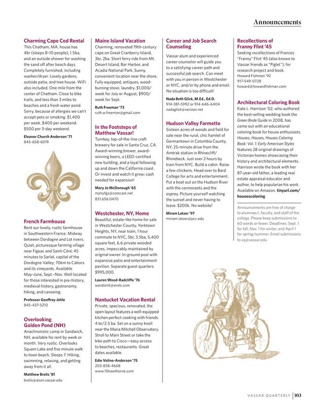 Vassar Quarterly - Spring 2018