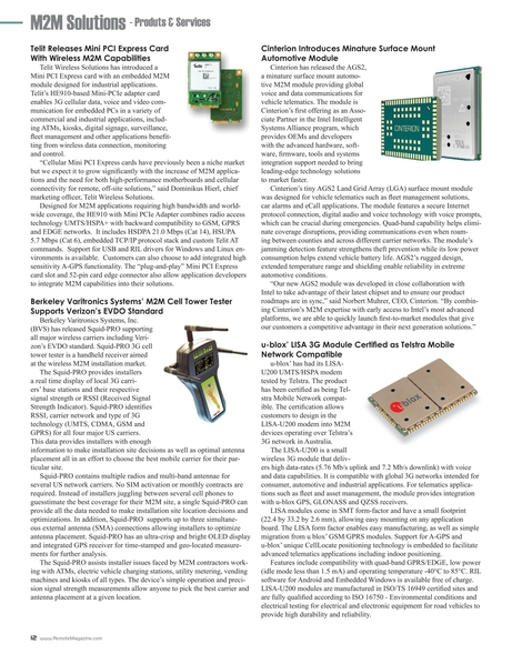 Remote - M2M Special Issue 2012