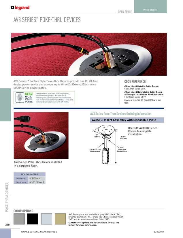 Wire & Cable Management Catalog 2018/2019 Og Wire Wheels Code on