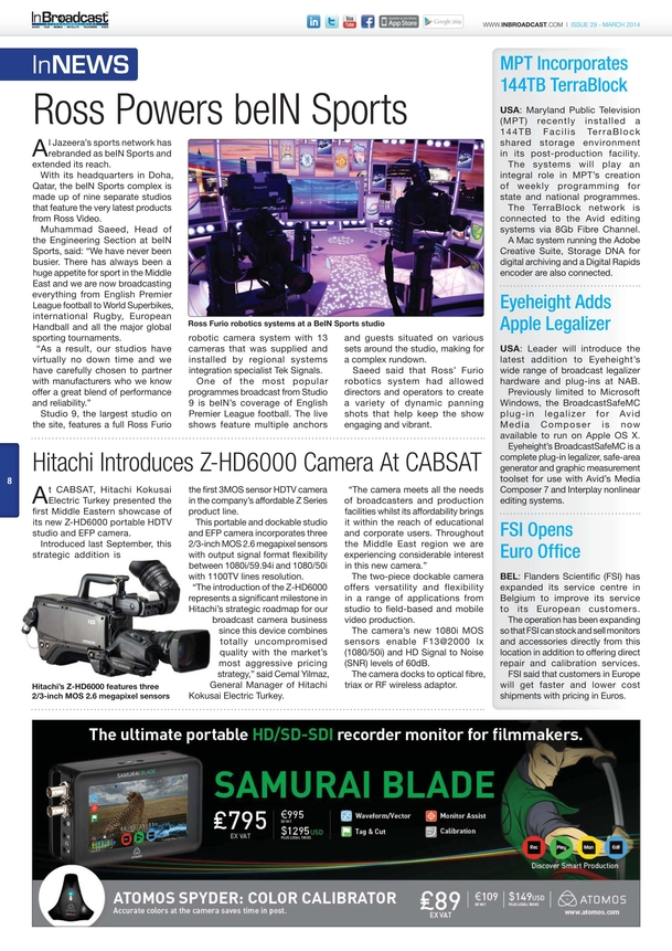 In Broadcast - March 2014