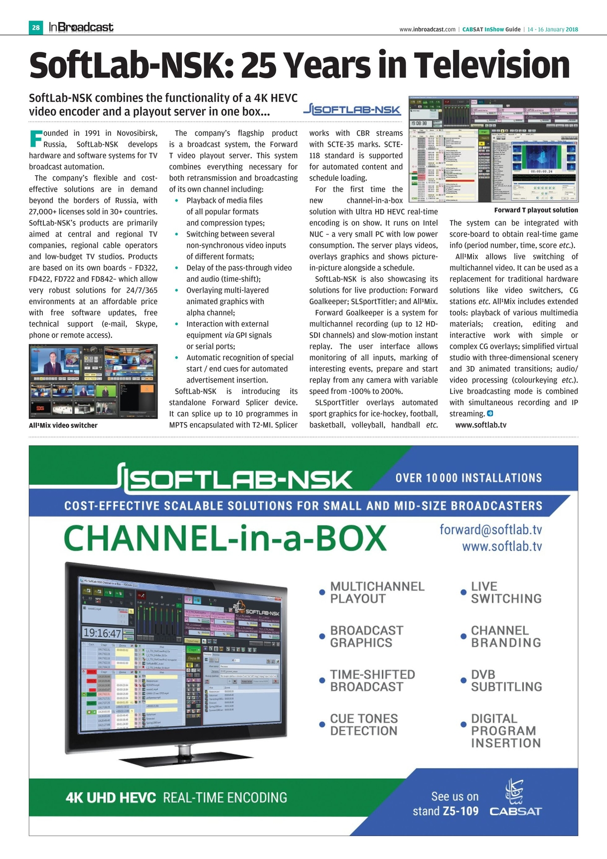 In Broadcast - CABSAT 2018