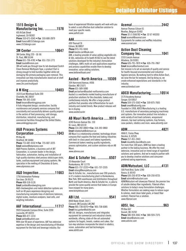 IBIE - 2016 Official Show Directory