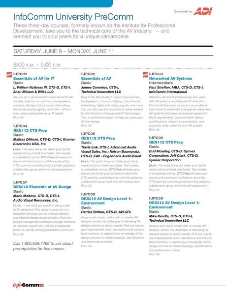 InfoComm 2012 - June 9-15 - Las Vegas