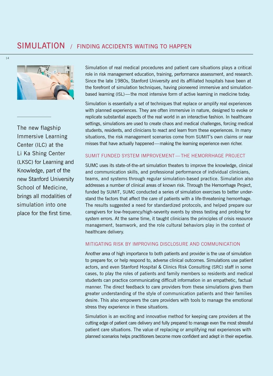 Stanford Medicine Annual Report 2012