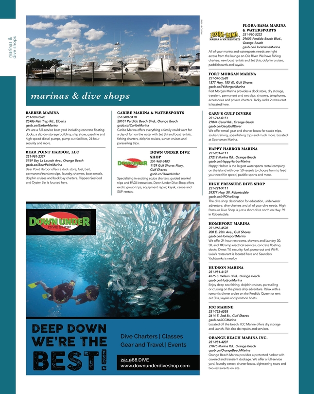 Gulf Ss Orange Beach 2018 Official Vacation Guide 49