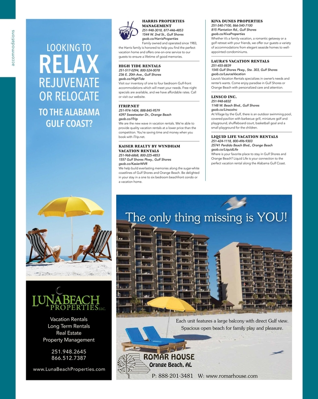 Gulf Ss Orange Beach 2018 Official Vacation Guide 50 52
