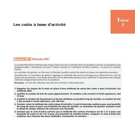 Les Carres Dcg 11 Exercices Corriges Controle De Gestion 2016 2017 3e