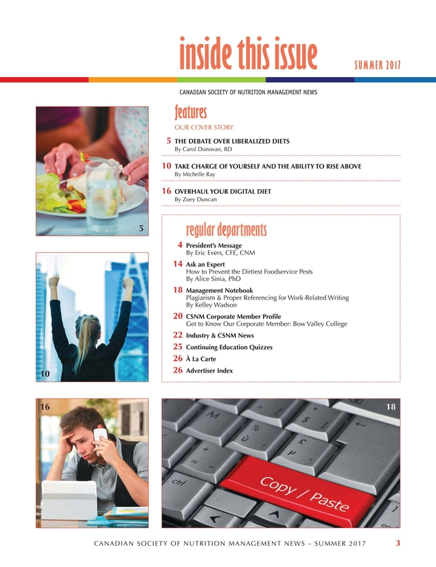 Food Service Nutrition