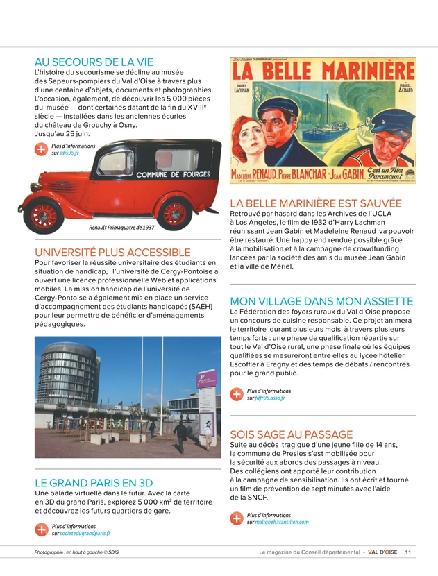 Val Doise Le Magazine Du Conseil Départemental N10