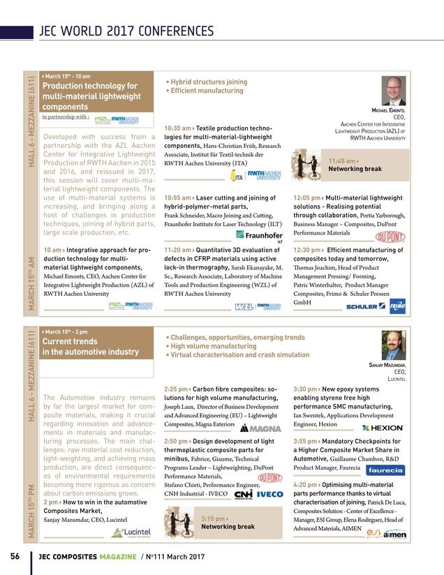 JEC COMPOSITES MAGAZINE - Issue #111 - March 2017 - Special JEC