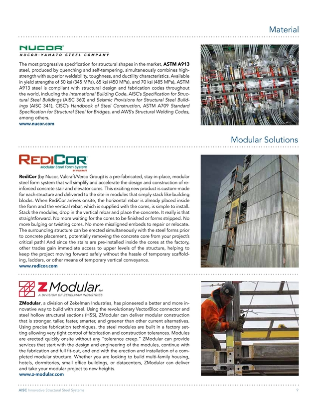 Innovative Structural Steel Systems Brochure