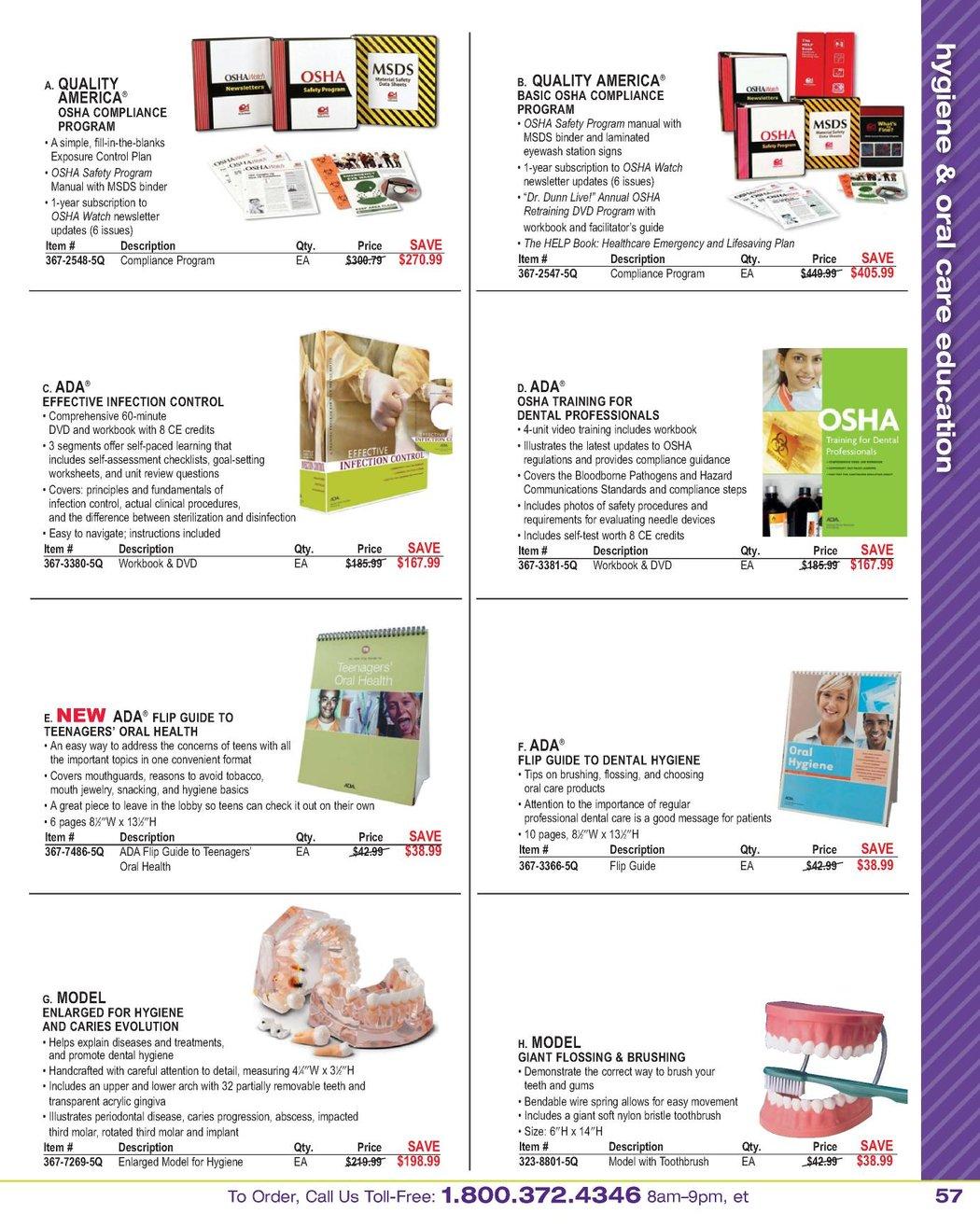 Workbooks infection control workbook : Dental Hygiene Source ADHA - January 2011 [56 - 57]