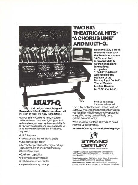 Theatre Design Technology Winter 1976