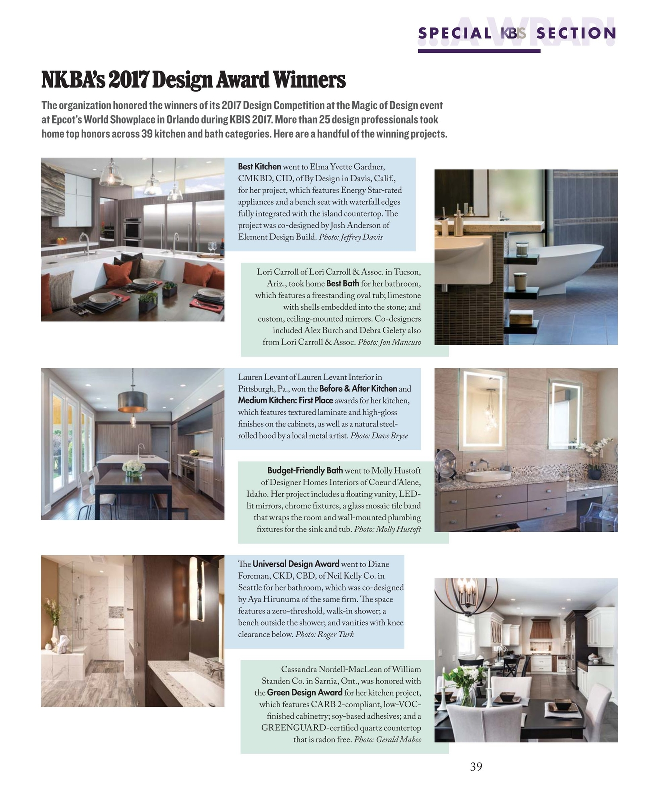 Kitchen Bath Business February March 2017 38 39