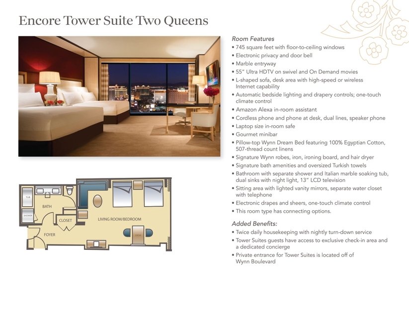Encore Room Floor Plans