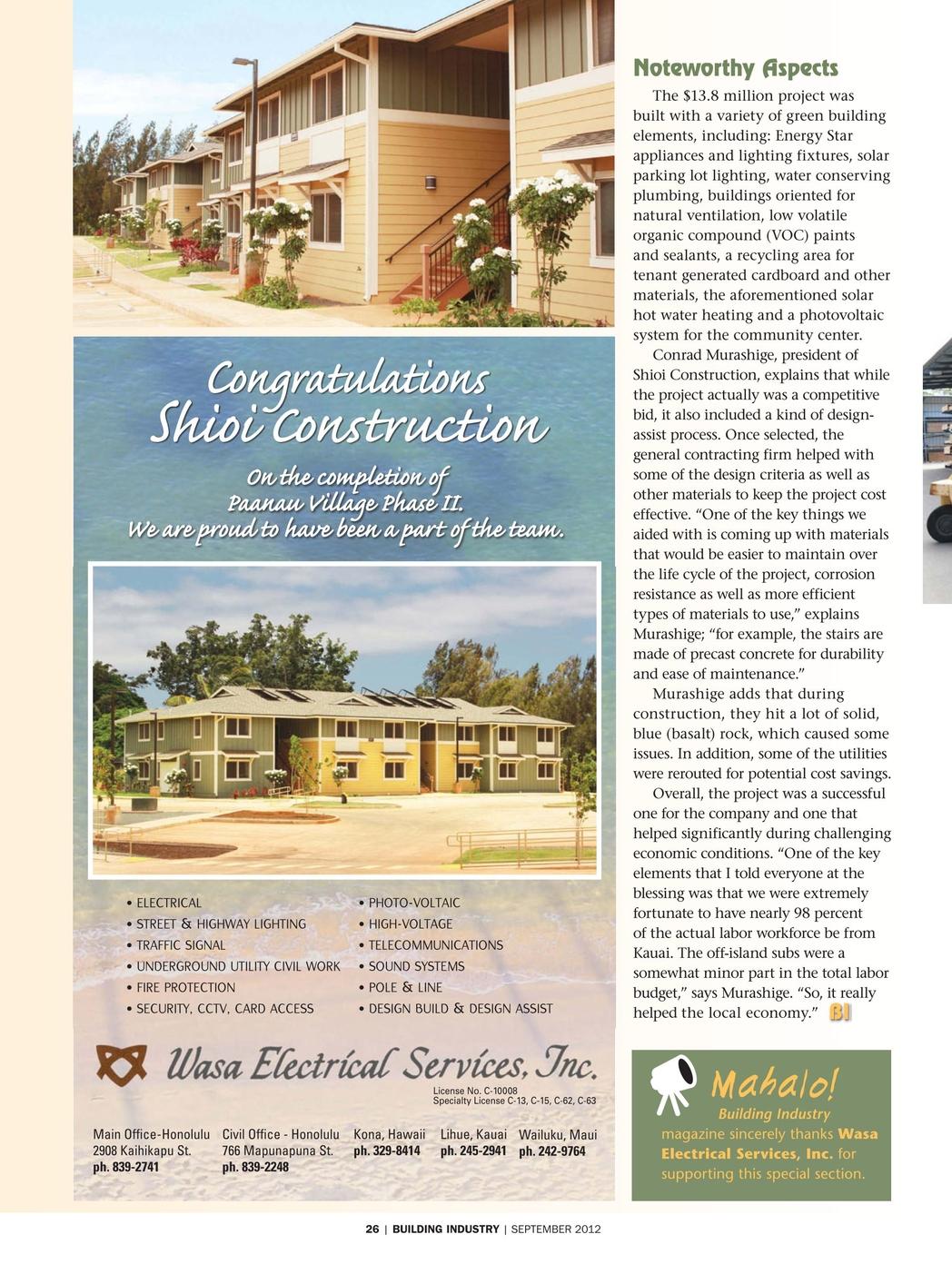 Building Industry Magazine September 2012 30 31
